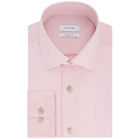 Calvin Klein Big & Tall Men's Classic-Fit Dress Shirt, Coral Reef, XXL (18'',35/36)
