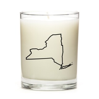 State Outline Soy Wax Candle, New-York State, Lemon