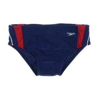 Speedo Mens Racing Striped Swim Briefs