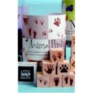 Ink N Stamp Animal Prints Stamp Set With Stamp Pads - 1 x 1 in. -