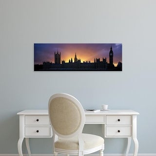 Easy Art Prints Panoramic Images's 'Sunset Houses of Parliament & Big Ben London England' Premium Canvas Art