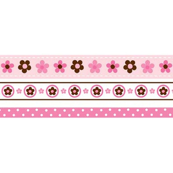 Babyville Boutique Ribbon Packs 6yd-Mod Girl Flowers