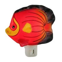 Red Tropical Fish Shaped Porcelain Night Light