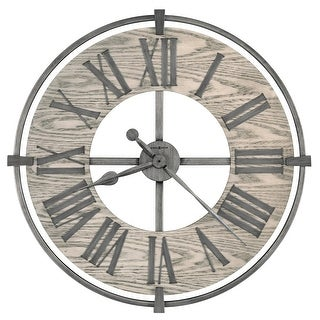Link to Howard Miller Eli Wrought Iron and Glass Oversized Wall Clock Similar Items in Decorative Accessories