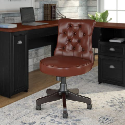 "Copper Grove Pleven Mid-back Tufted Office Chair - 22.05""L x 25.79""W x 33.66""H - 22.05""L x 25.79""W x 33.66""H"