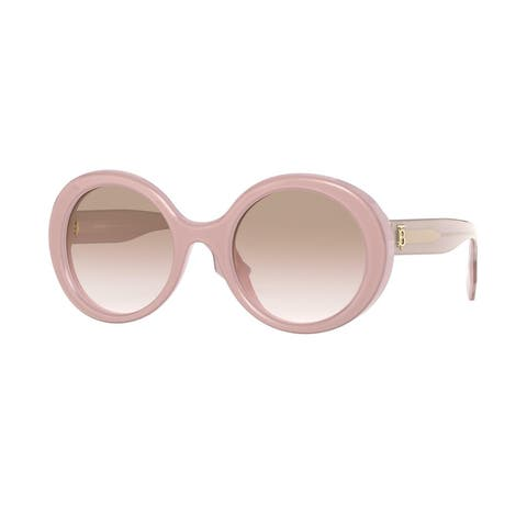Burberry BE4314 388513 52 Top Transparent Rose/opal Rose Woman Round Sunglasses