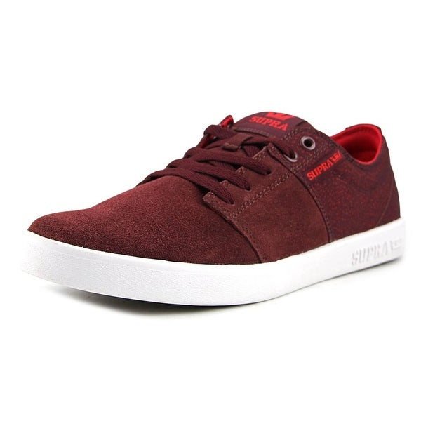 Supra Stacks II Men Burgundy-White Skateboarding Shoes
