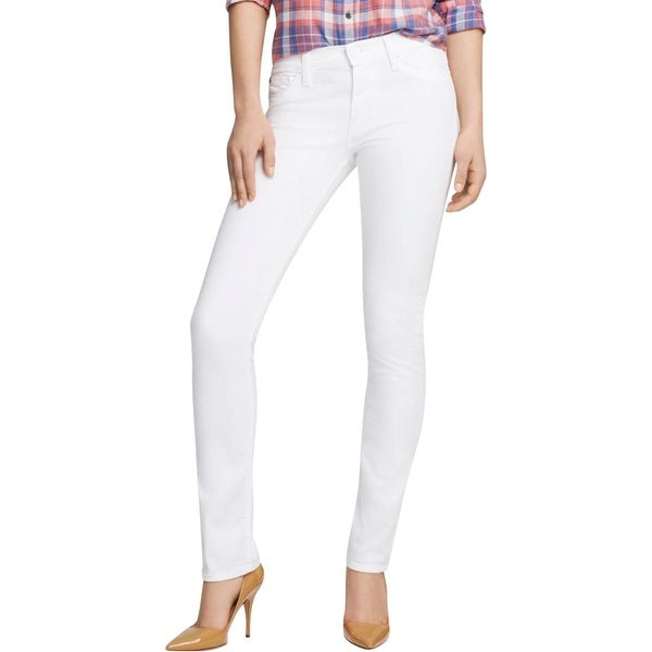 Hudson Womens Shine Skinny Jeans Denim Mid-Rise