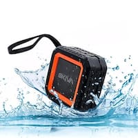 Skiva SoundCube Splashproof Water-resistant Loud Bluetooth Wireless Speaker with 12 Hours Playtime for iPhone, Samsung