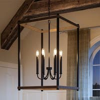 """Luxury Modern Farmhouse Pendant Light, 32""""H x 20""""W, with English Country Style, Olde Bronze Finish by Urban Ambiance"""