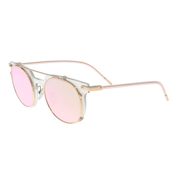 0f5374ea230 Shop Dolce   Gabbana DG2196 12984Z Clear Mirror Oval Sunglasses - 49 ...