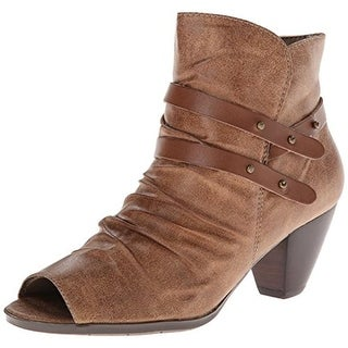Baretraps Womens Stamos Ankle Boots Belted Open Toe
