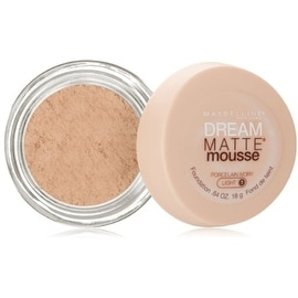 Maybelline Dream Matte Mousse Foundation, Porcelain Ivory Light [1], 0.64 oz
