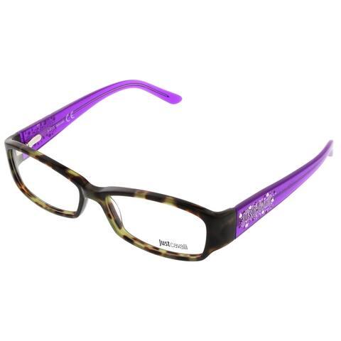 Just Cavalli JC0456/V 55A Brown & Purple Rectangle Optical Frames - 53-14-135