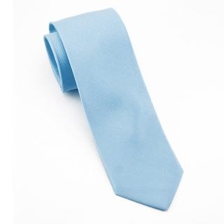 Men's 100% Silk Light Blue Tie