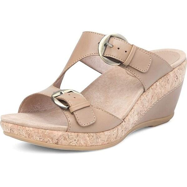 8f06cefa23d Shop Dansko Womens Carla Leather Open Toe Casual Platform Sandals ...