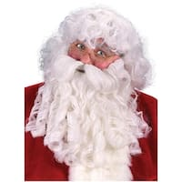 Deluxe Santa Claus Wig, Beard & Eyebrows Adult Costume Accessory Set
