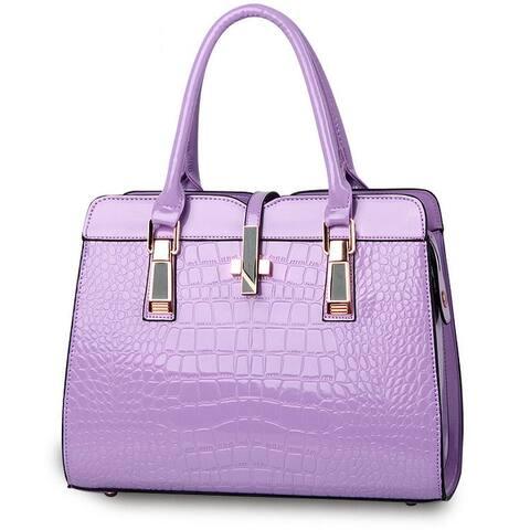 Fashion Crocodile Pattern Handbag Shoulder Bag
