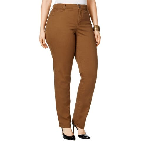 Style & Co. Womens Tummy Control Casual Trouser Pants