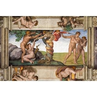 Easy Art Prints Michelangelo's 'Expulsion From Paradise, Sistine Chapel' Premium Canvas Art