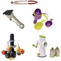 Starfrit Gadget Kit With Rotato Express, Tongs, Can Opener, Measuring Cups, Drum