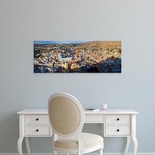 Easy Art Prints Panoramic Images's 'Aerial view of a city, Guanajuato, Mexico' Premium Canvas Art