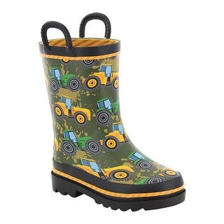 Western Chief Boys' Tractor Tough Rain Boot Taupe