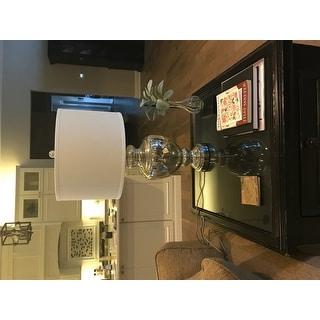 "Safavieh Lighting 28-inch Morocco Mercury Glass Table Lamp (Set of 2) - 15"" x 15"" x 28"""