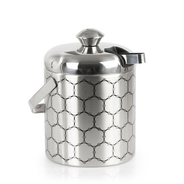 Stainless Steel Ice Bucket with Ice Molecule Pattern. Opens flyout.