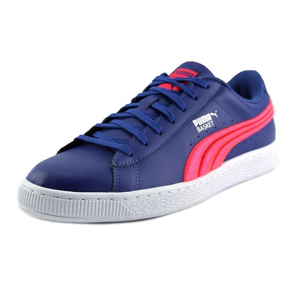 Puma Suede Classic Badge Men Round Toe Synthetic Blue Sneakers