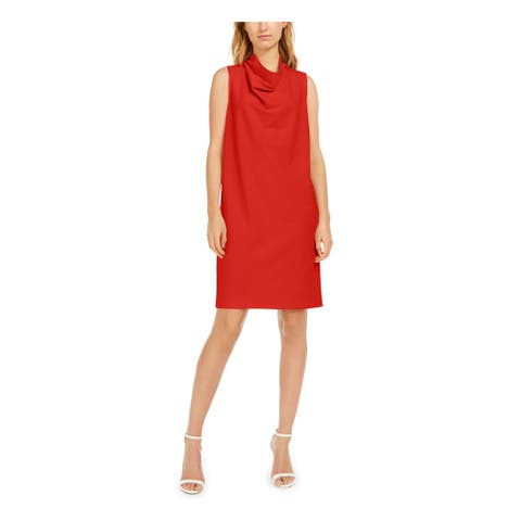 ANNE KLEIN Womens Red Sleeveless Above The Knee Sheath Dress Size XL