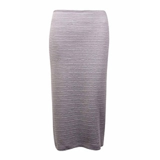 Calvin Klein Women's Textured Knit Knee-Length Pencil Skirt (M, Tin) - M