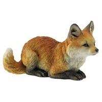 Unicorn Studios WU75465AA Fox Pup Crouching Decorative Statue Figurine