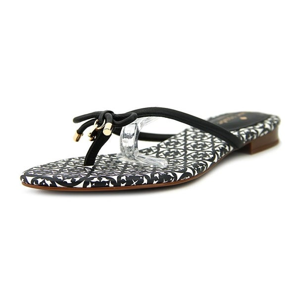 Kate Spade Mistic Women Open Toe Leather Black Thong Sandal