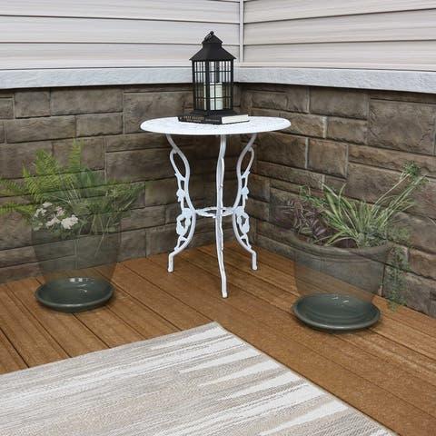 Sunnydaze Ceramic Planter Saucer - 9-Inch - Set of 4