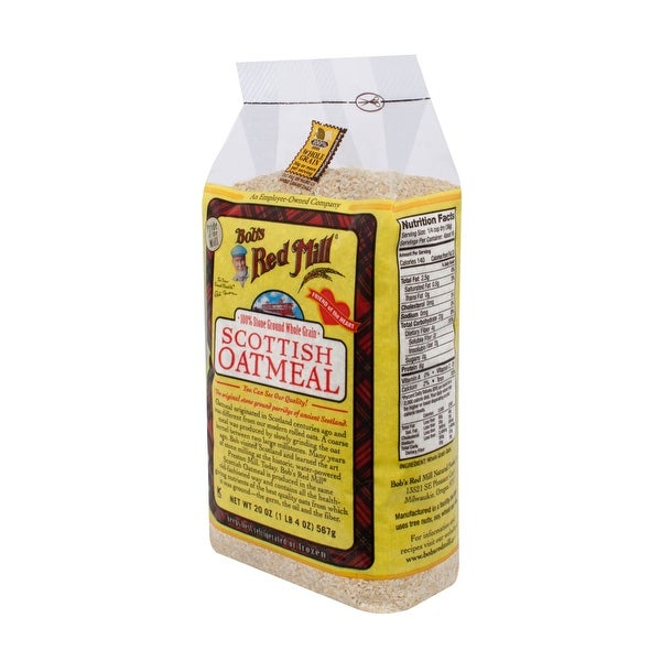 Bob's Red Mill Scottish Oatmeal - 20 oz - Case of 4