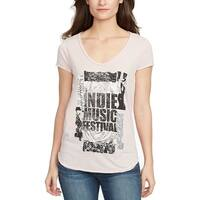 William Rast Womens Plus Indie Music Festival Knit Top