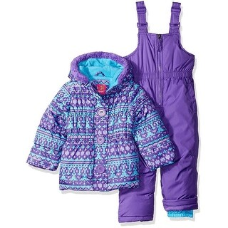 Pink Platinum Girls 4-6X Fair Isle Knit Printed Snowsuit - Fuchsia