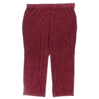 Karen Scott Womens Plus Casual Pants Velour Textured - 3x