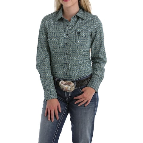 Cinch Western Shirt Womens Geo Print L/S Snap Multi-Color