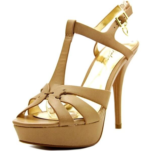 Thalia Sodi Raquell Open Toe Synthetic Platform Sandal