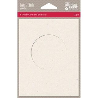 "Jillibean Soup Shaker Cards W/Envelopes 5.5""X4.25"" 6/Pkg-Large Circle"