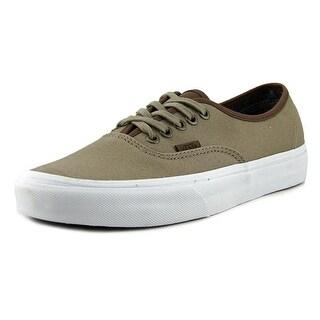 Vans Authentic Men Round Toe Canvas Tan Skate Shoe