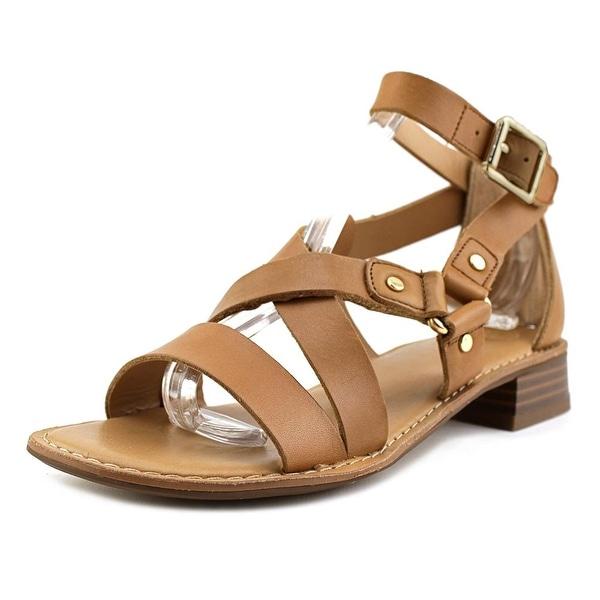 Franco Sarto April Women Open Toe Leather Tan Sandals