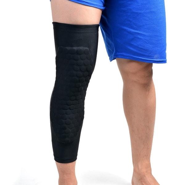 Gym Long Sleeve Basketball Leg Protector Crashproof Knee Gear Honeycomb Pad US