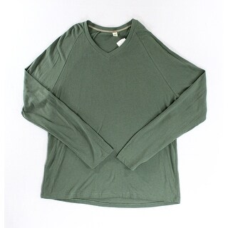 Alternative NEW Solid Green Mens Size XL Pullover V-Neck Sweater