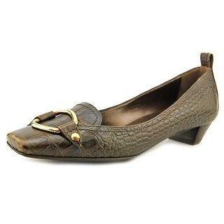Sergio Rossi Jackie Square Toe Leather Loafer