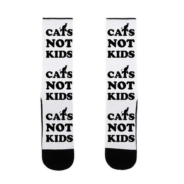 LookHUMAN Cats Not Kids US Size 7-13 Socks