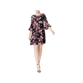 Jessica Howard Womens Wear to Work Dress Floral Print Above Knee