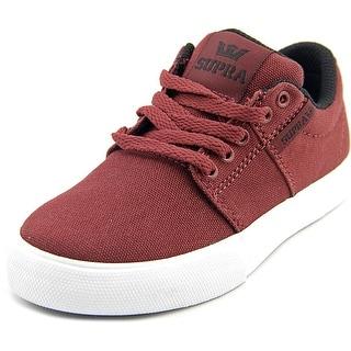 Supra Stacks Vulc II Youth Round Toe Canvas Burgundy Sneakers